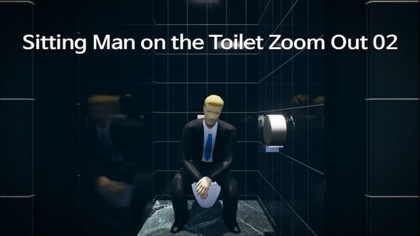 Sitting Man On The Toilet Zoom Out 02