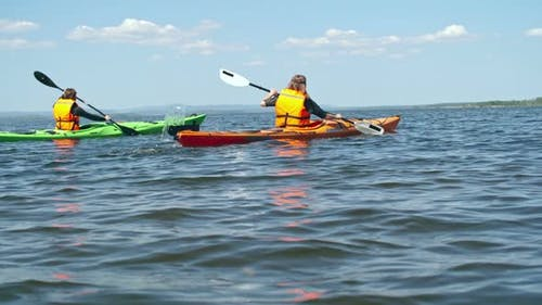 Enjoying Kayaking Adventure