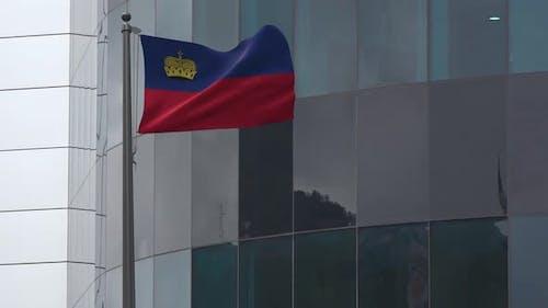 Liechtenstein Flag Background 4K