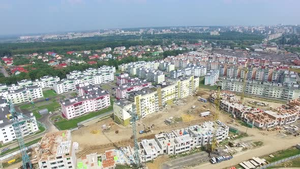 Thumbnail for Building Materials and Equipment are Located on the Site of the Construction of Modern High Rises