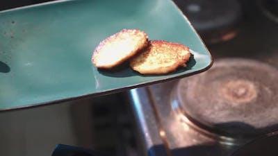 National cuisine. Potato pancakes. Vegetable pancakes.