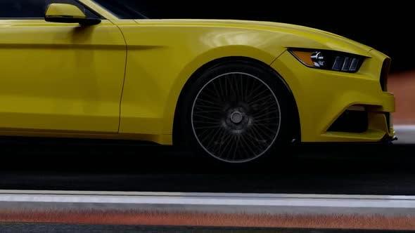 Thumbnail for Gelber Luxus-Sportwagen