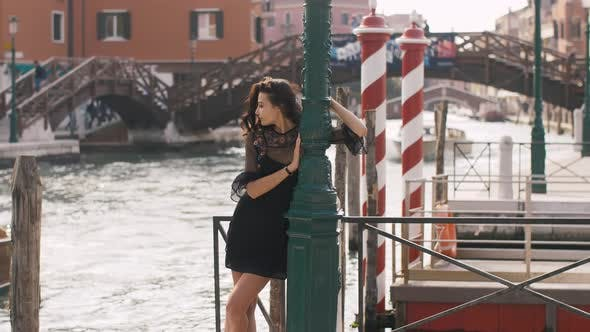 Thumbnail for Woman on Pier, Venice, Italy.