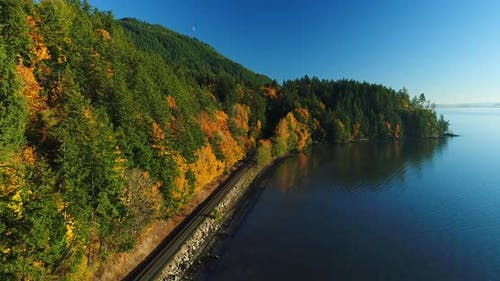 Bellingham Washington Usa Coast Aerial Drone Pacific Northwest San Juan Islands