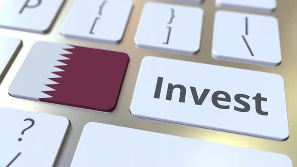 Thumbnail for INVEST Text and Flag of Qatar on Computer Keyboard