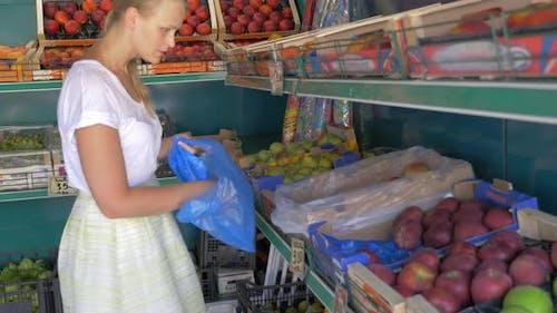 Auswahl von Obst auf dem Markt