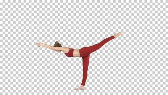 Thumbnail for Tuladandasana or Balancing Stick Pose is an advanced yoga