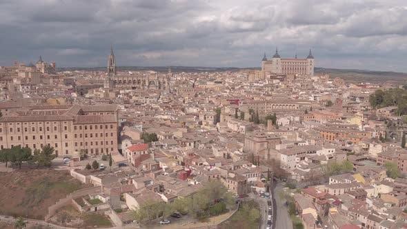 Luftaufnahme der Sehenswürdigkeiten in Toledo