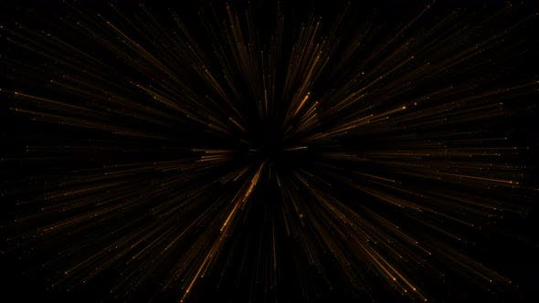 Gold Particles Laser Zoom Background