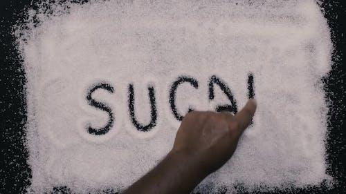 Hand Writes Sugar