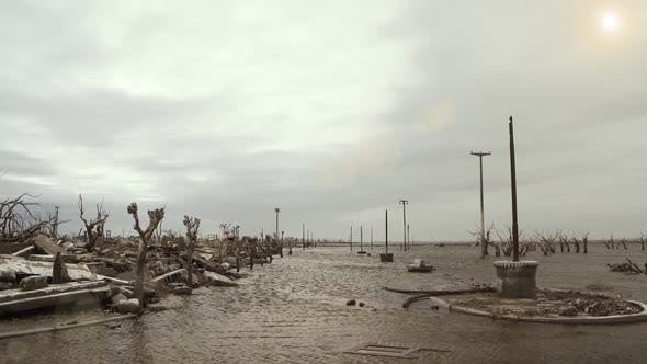Thumbnail for Ruins of a Flooded and Destroyed City in Argentina.