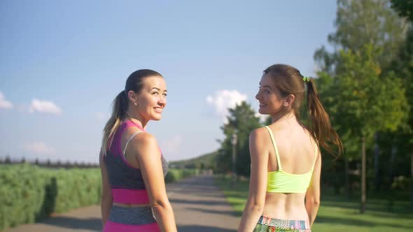 Thumbnail for Smiling Sporty Fitness Women After Workout