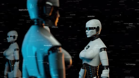 Futuristic Robots With Artificial Intelligence V2 4k