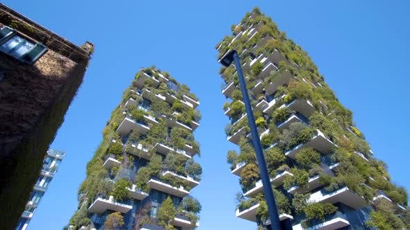 Thumbnail for Modern and Ecologic Skyscrapers with Many Trees on Every Balcony