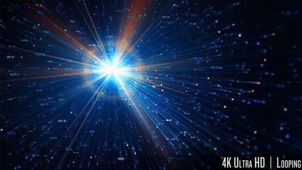 Thumbnail for 4K Futuristic Internet Digital Data Transfer