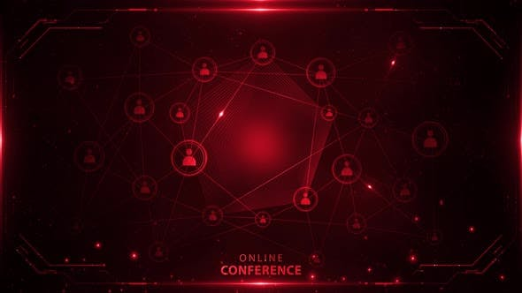 Online Conference Background Red 4k Loop