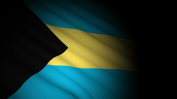 Thumbnail for Bahamas Flag Blowing in Wind