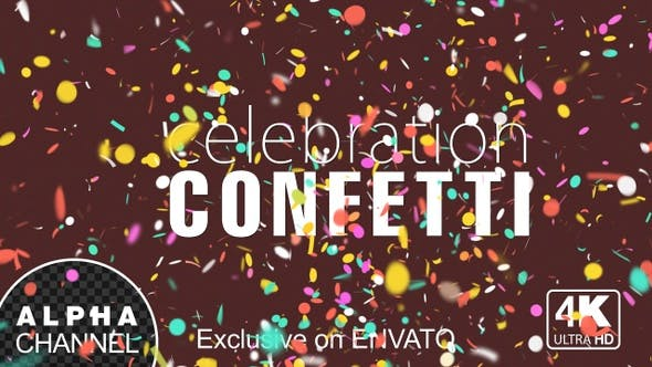 Thumbnail for New Year Celebration Confetti With Alpha Channel