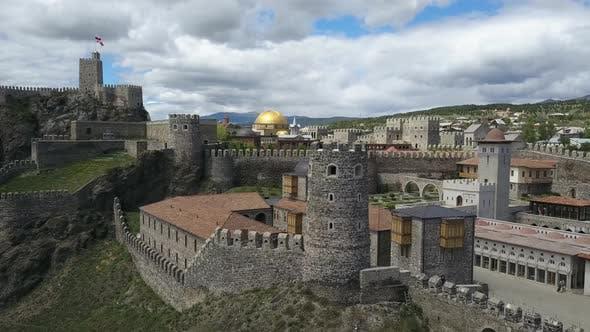 Aerial View of Rabati Fortress in Akhaltsikhe, Georgia