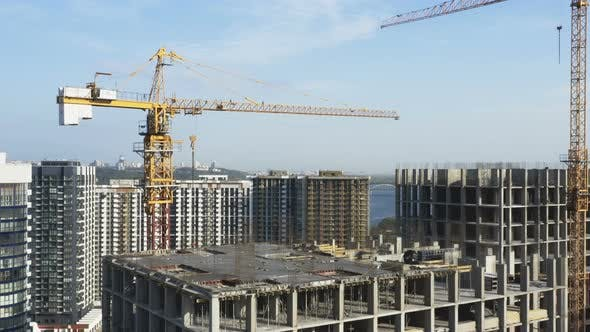 Big Real Estate Building Construction Yard