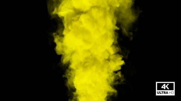 Yellow Smoke Billowing Over Steady Flow