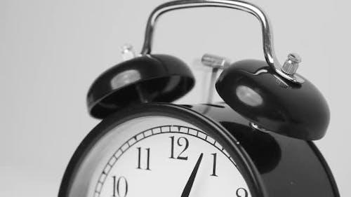 Close Up of Vintage Alarm Clock Bell Ringing