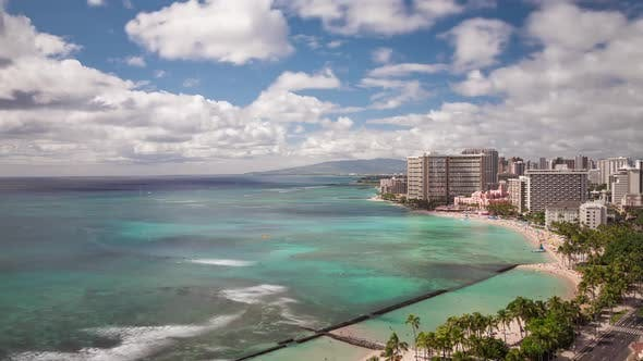Beach Honolulu Hawaii Time Lapse