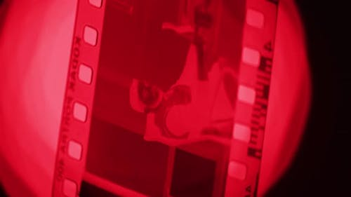 Close up of a photographic film