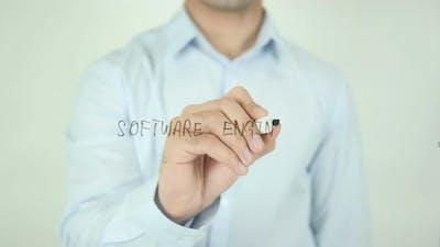 Software Engineer, Writing On Screen