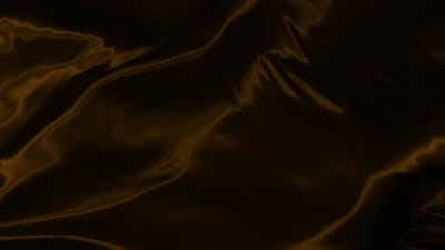 Waves of Brown Fabric Cloth in the Wind