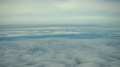Aerial view cloud from plane view