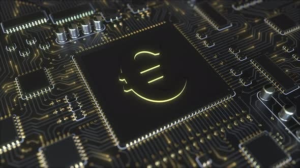Thumbnail for EUR Euro Currency Symbol on a Chipset