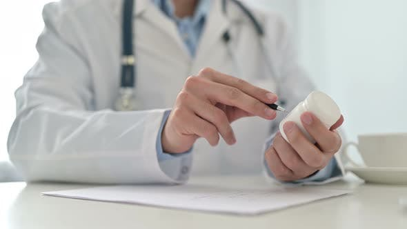 Thumbnail for Doctor Working Prescription, Paperwork