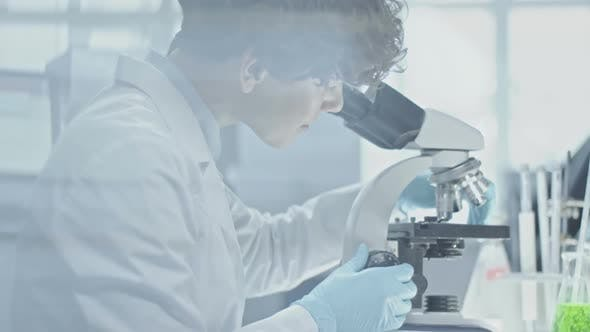 Thumbnail for Female Scientist Inspecting Sample