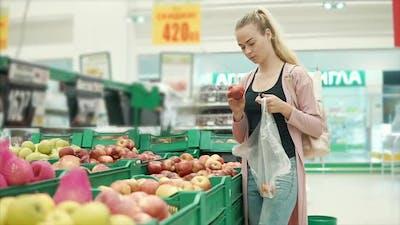 Girl Shopping for Groceries