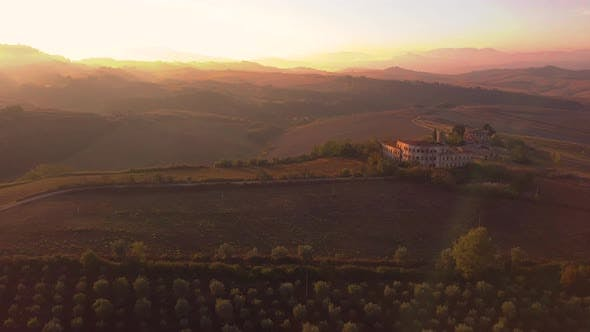 Thumbnail for Typical Landscape of Hills in Tuscany, Italy. Aerial View