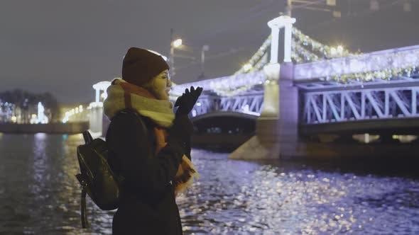Thumbnail for Woman Walking near River
