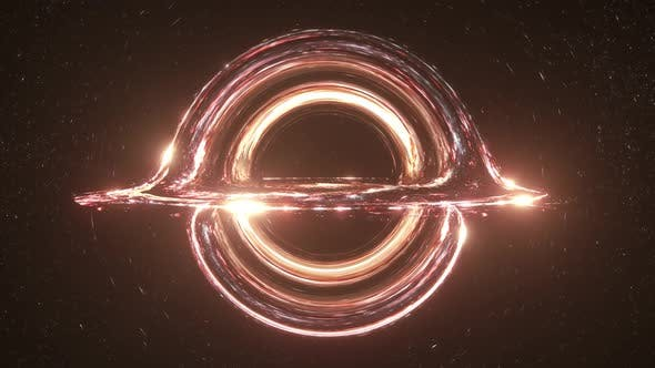 Thumbnail for Orange Colorful Black Hole Simulation Seamless Loop