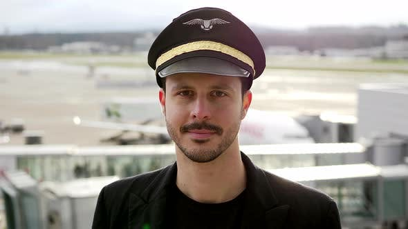 Pilot Officer Working in Aviation Business Career at Airport