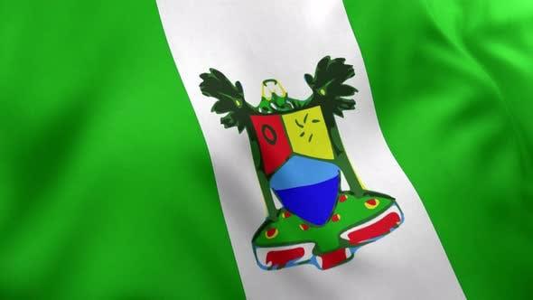 Lagos City Flag (Nigeria) - 4K