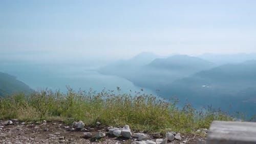 Beautiful Panorama on the Alps at Lake Garda
