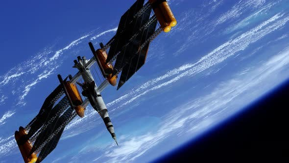 Spacecraft Docking on Spacestation at the Earth Orbit