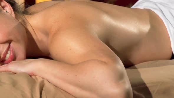 Thumbnail for Charming Woman Falling Asleep on Massage Table at Spa Center