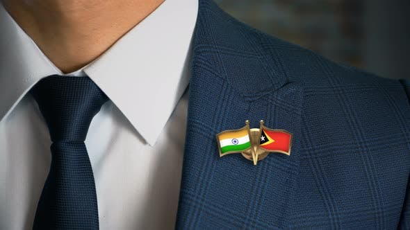 Thumbnail for Businessman Friend Flags Pin India East Timor