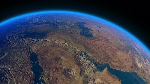 Earth Realistic Clouds Middle East