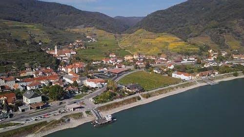 Aerial of Spitz, Wachau Valley