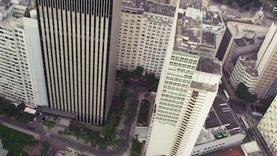 Aerial shot of downtown Rio de Janeiro, Brazil