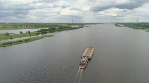 Barge River Volga