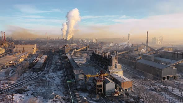 Thumbnail for Aerial View of a Heavy Industry District. Ecology Concept