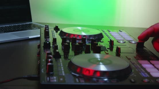 Thumbnail for Male DJ Hands Turning Controls And Mixing 20B